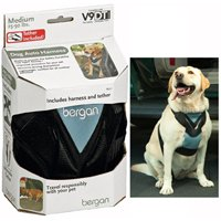 Dog Auto Harness W/ Tether Med By Bergan