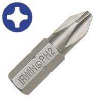 """""""#2Phillips Drywall Bit 1"""""""" 25Pc"""" By Irwin Industrial + ["""