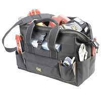 Tool Tote Bag 23Pkt 16In W/Try By Custom Leathercraft + [