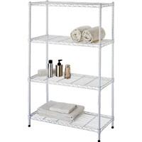 Shelf 4-Tier Adjustable White By Homebasix + [