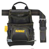 Nail/Tool Bag 10Pkt W/Blt Lthr By Custom Leathercraft + [