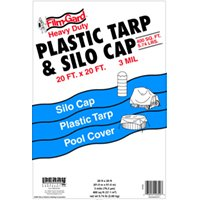 20X20 Black Tarp/Silo Cap By Warp Brothers