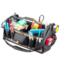 Tool Bag 20In Open Top Sftsde By Custom Leathercraft + [