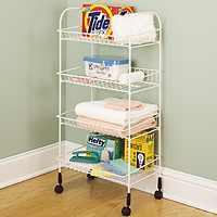 Cart Storage 4Tier Steel White By Closetmaid + [
