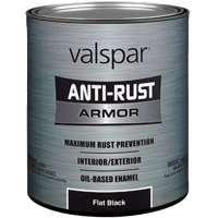 Paint Antirust Obs Flat Blk Qt By Valspar + [