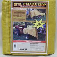 8X10 10Oz Canvas Tarp By Dize Co