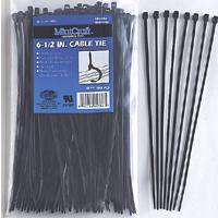 6.5In Cable Tie 18Lb Blk 100Pc By Mintcraft + [