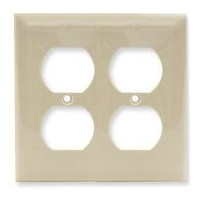 Wall Plate 2Gang Dplx Recpt Iv By Cooper Wiring + [
