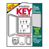 Lockable Plastic Key Cabinet By Hy-Ko Products + [