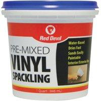 Compound Spackling Vinyl Quart By Red Devil Inc + [