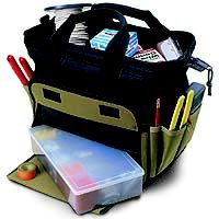 Tray Tote Bag 12In 12-Pocket By Custom Leathercraft + [