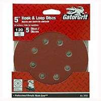 5In 120Grit 8Hole Hk/Loop 5Pk By Ali Industries + [