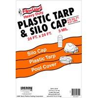 24X24 Black Tarp/Silo Cap By Warp Brothers