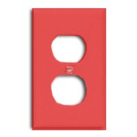 Wall Plate 1Gng Dplx Recpt Red By Cooper Wiring + [